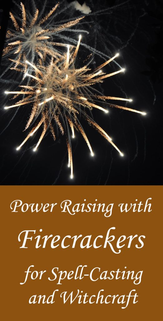 Power-raising with fireworks for spell casting, witchcraft and magic.