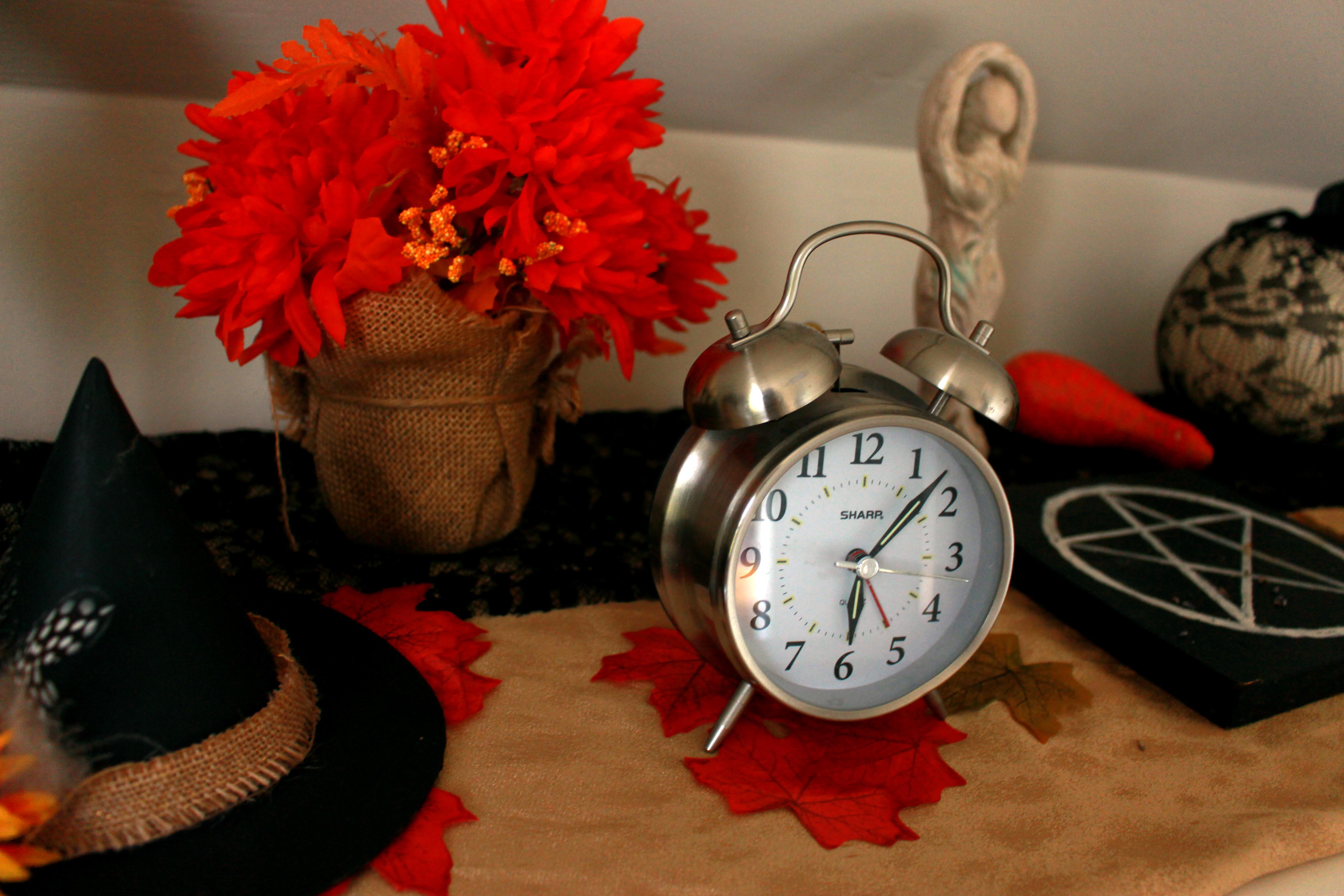 Clock on Samhain Altar