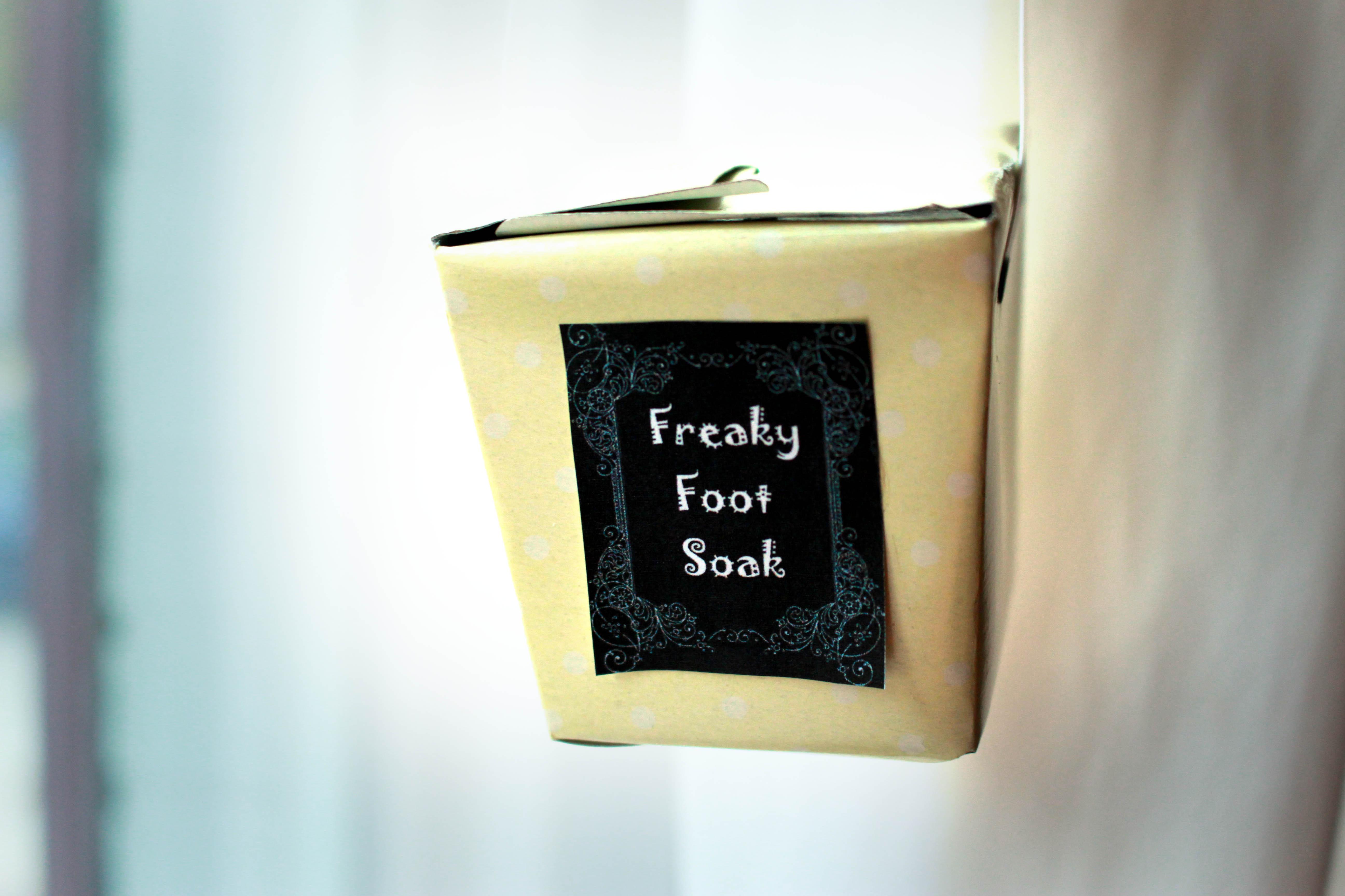 freaky foot soak