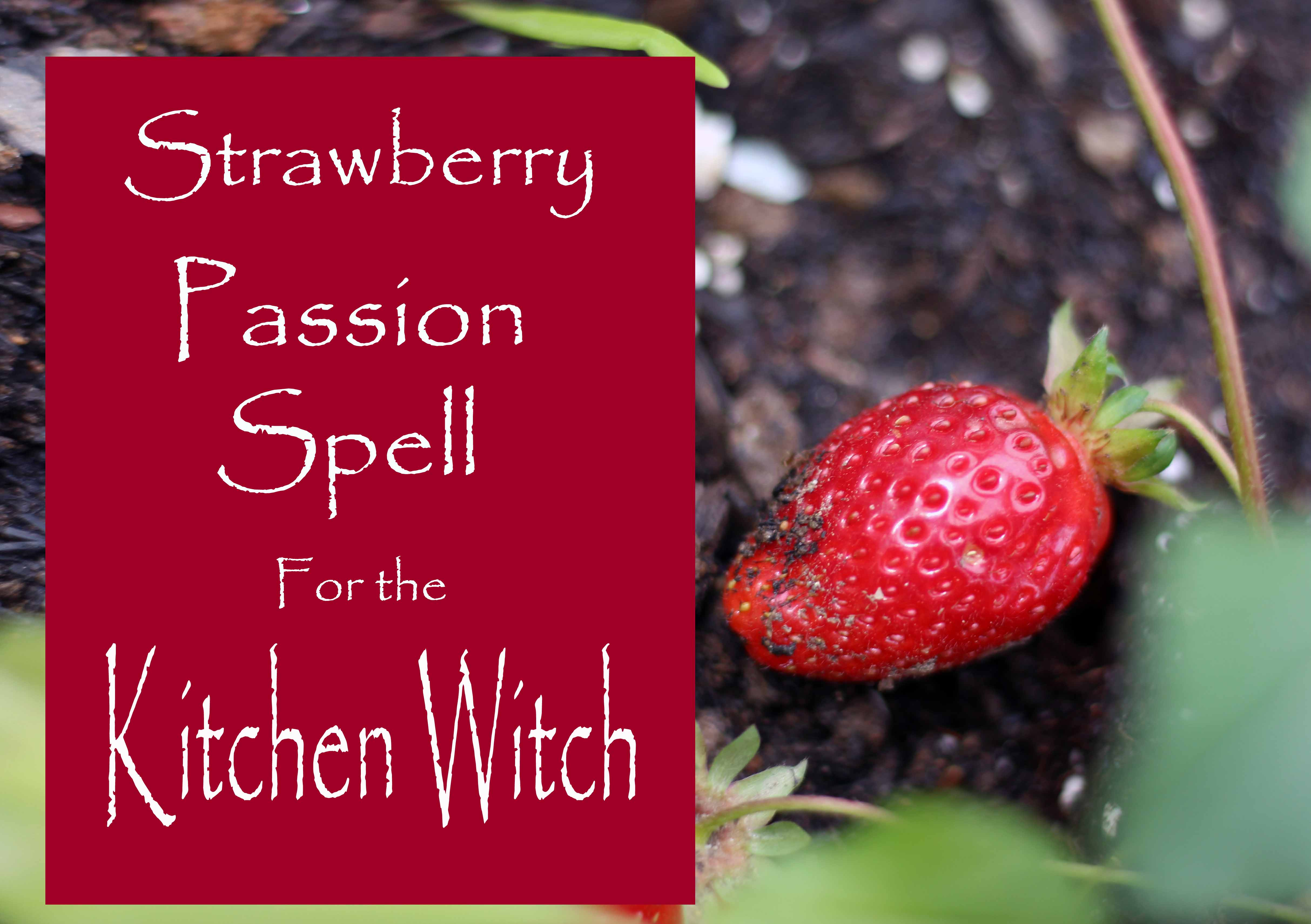 strawberry passion spell for the kitchen witch