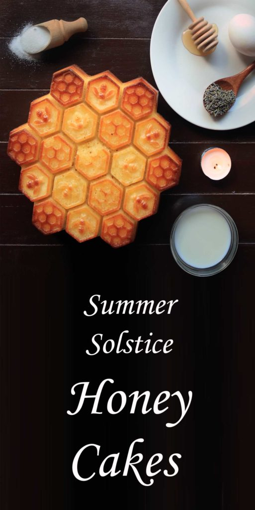 Traditional honey cakes for pagan litha midsummer summer solstice ritual.