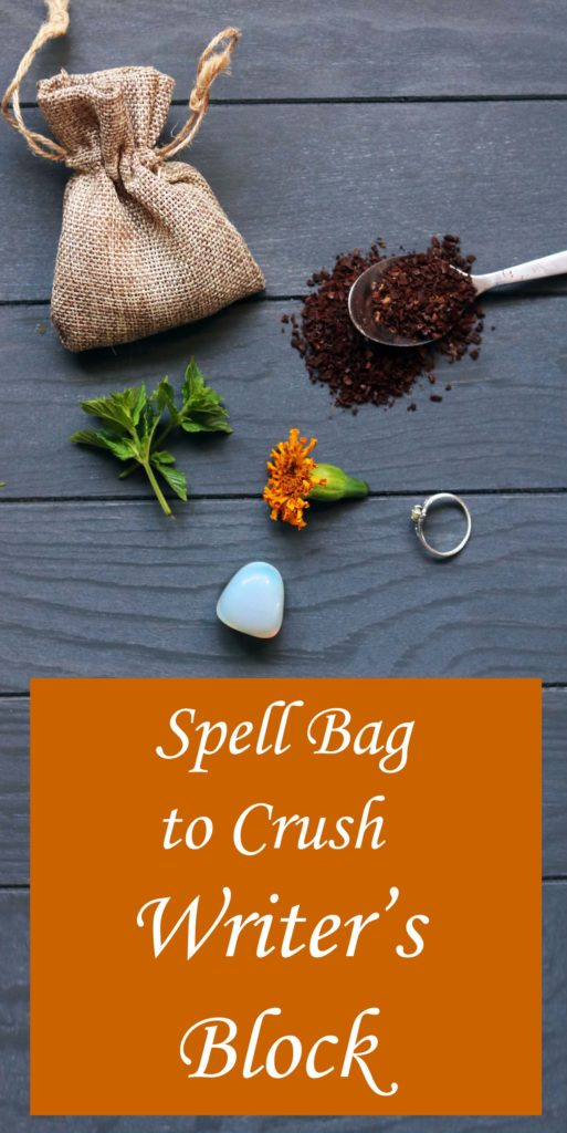 Make writer's block go away with this magical spell bag to get creative again.