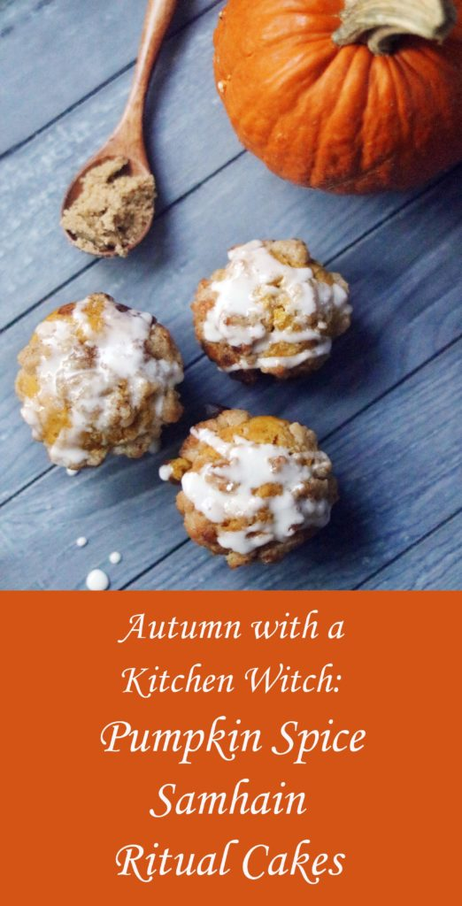 Pumpkin spice Samhain ritual cakes.