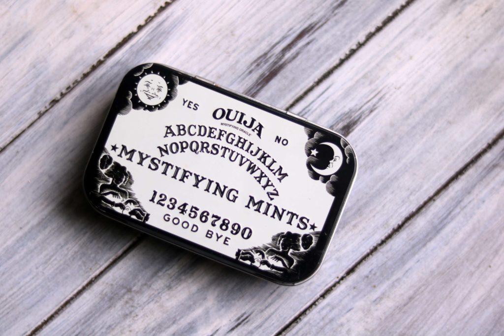 Ouija mint box for travel altar.