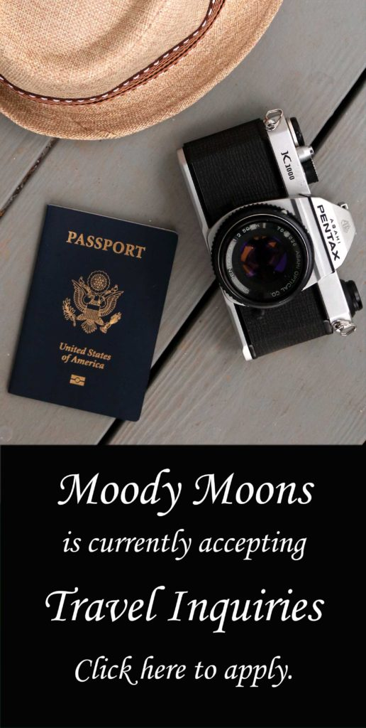 Are you trying to get a women's retreat, pagan event, haunted Airbnb or other spiritual travel event or retreat off the ground? Good news! Moody Moons is now accepting travel inquiries for feature!