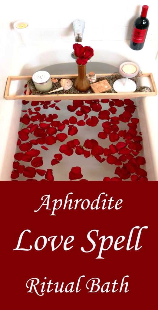 Aphjrodte love and attraction ritual bath spell.