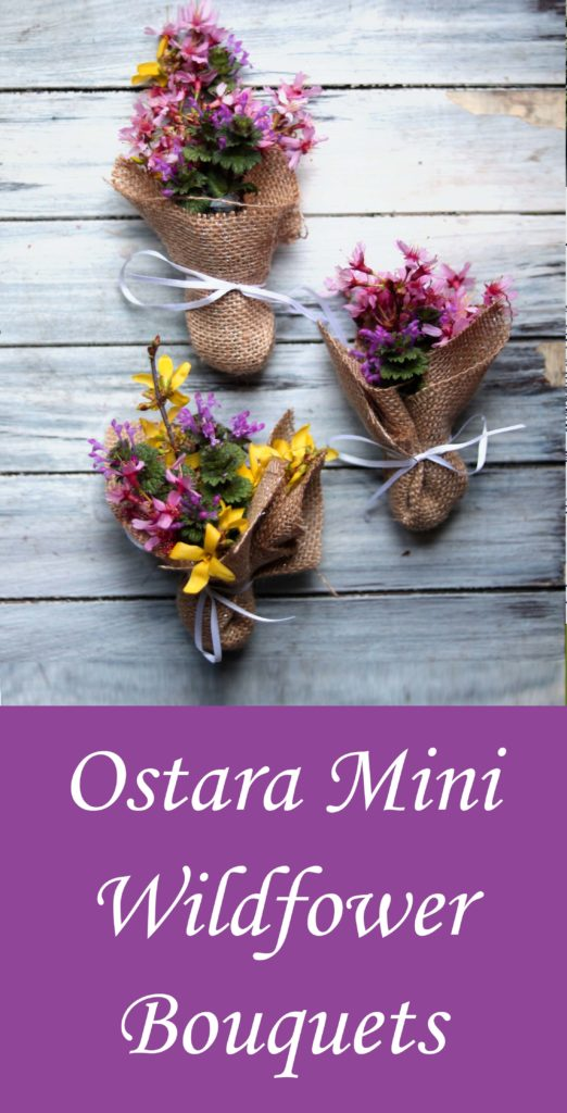 Mini wildflower bouquets--what a great Ostara idea!