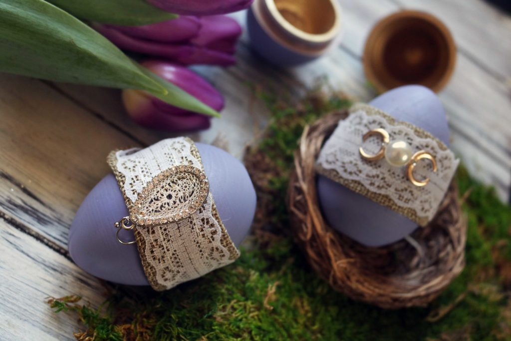 Ostara wishing eggs diy craft for the spring equinox.
