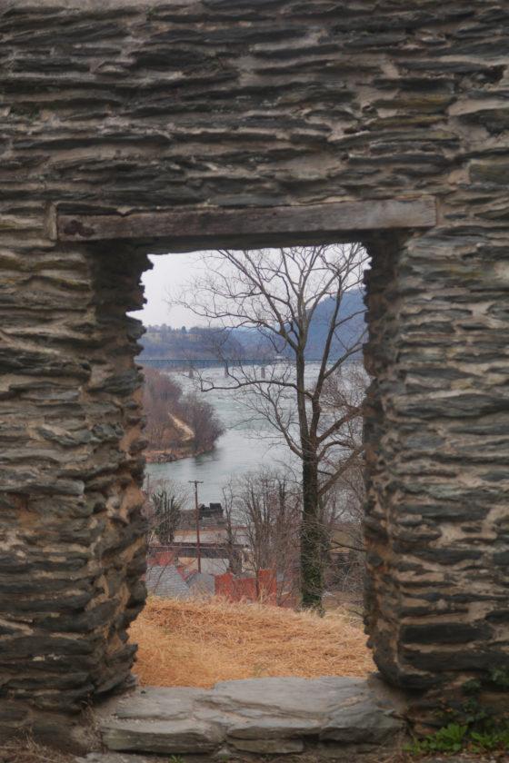 Ruins of St John's Episcopal Church in Harper's Ferry, West Virginia.