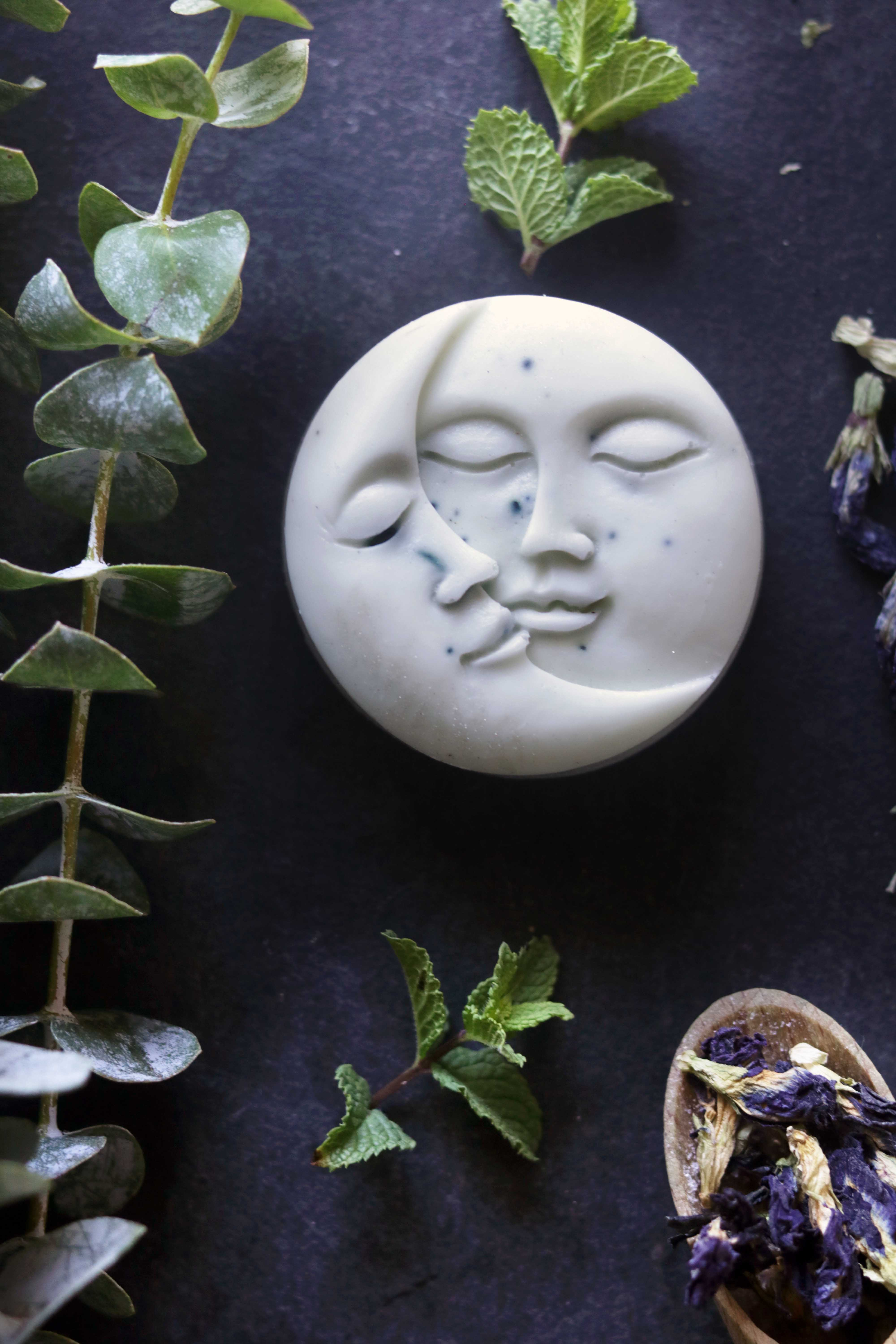 Lunar soap melt-and-pour easy diy moon soap. Love this mold!