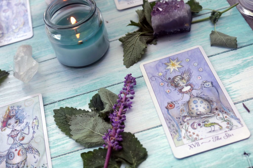 A five-card tarot spread for stress relief and managing anxiety.