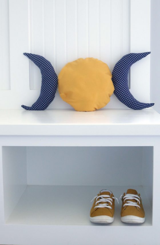 Make these adorable triple moon decorative pillows and enchant your home with a little witchy magic.