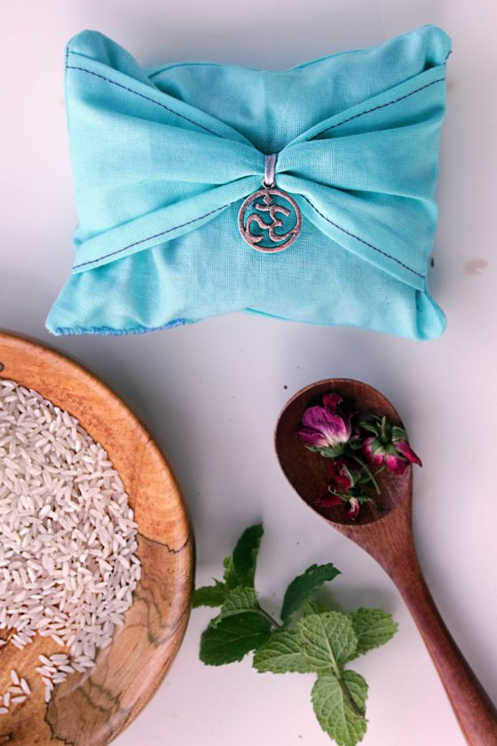 Herbal spell sachet to keep your cool and stay calm at family gatherings.