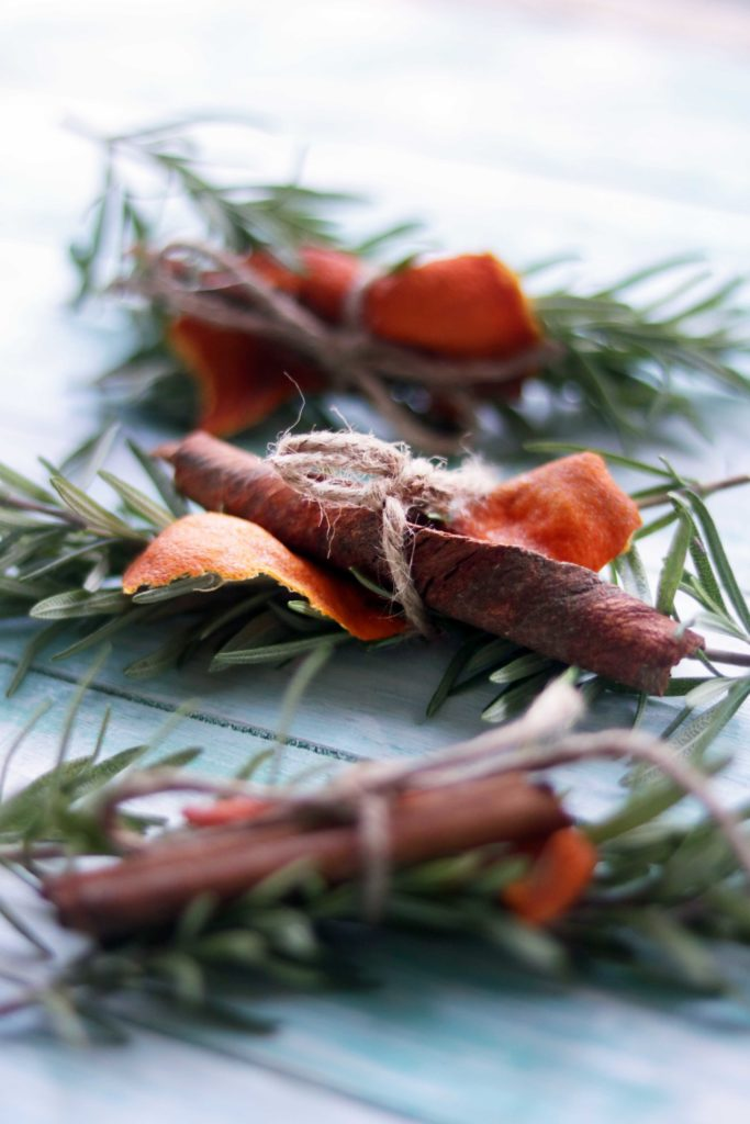 Winter Solstice Yule Fire Blessing Bundles. An easy, DIY Winter Craft for the creative witch!