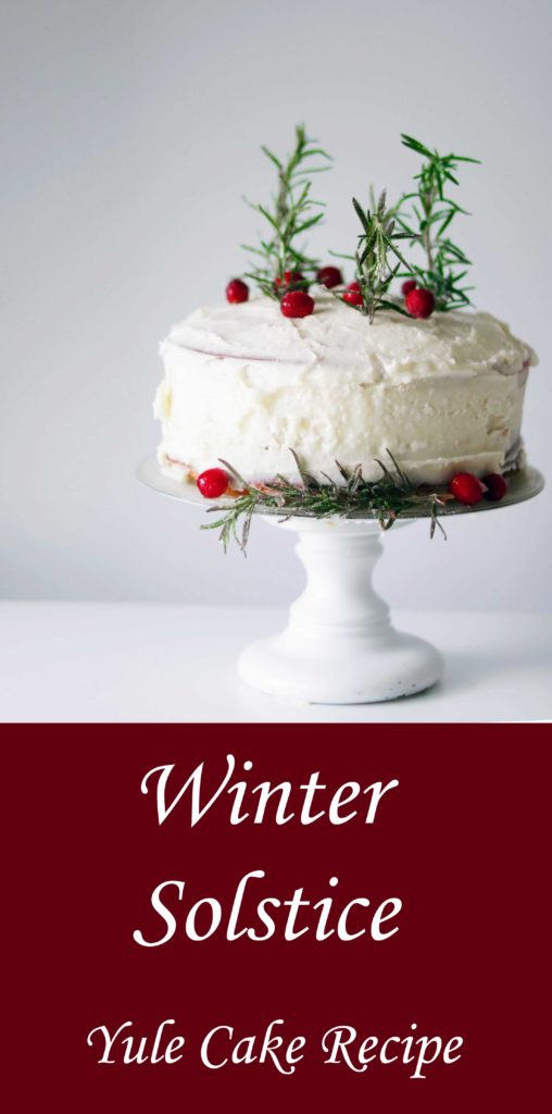 A perfect winter solstice cake recipe for Yule or Christmas.