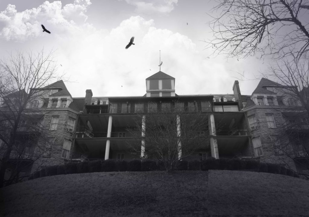 Composite image of the vultures that fly over the Crescent Inn in Eureka Springs, Arkansas.