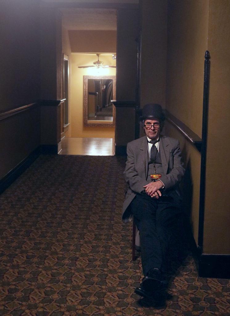 Tour guide Dan Bennett haunts the hallways of the Crescent Hotel.