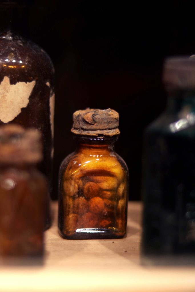 Creepy jars, presumably from the Norman Baker era in Eureka Springs, Arkansas.