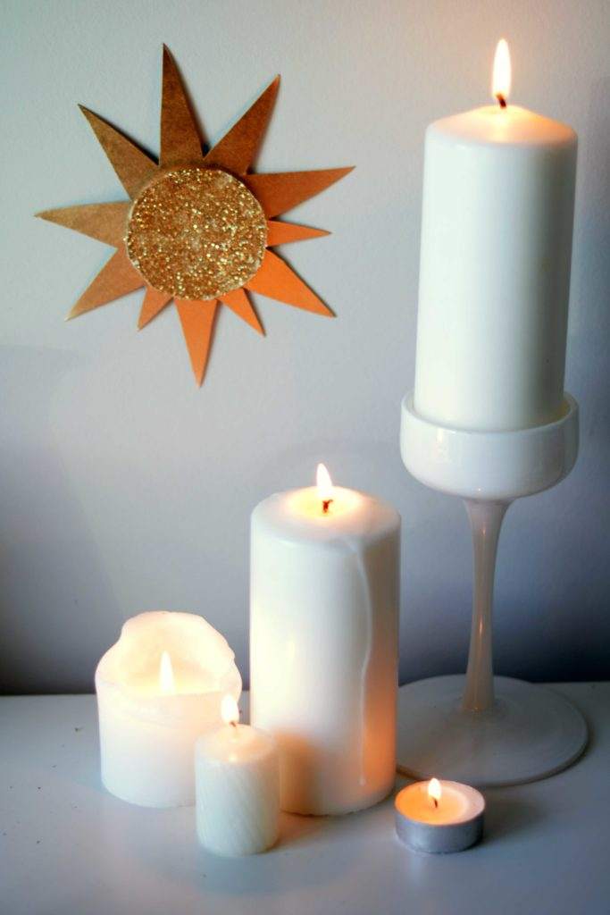 Imbolc is sometimes called Candlemas. The name is fitting. White pillar candles adore Imbolc altars all over the world this time of year!