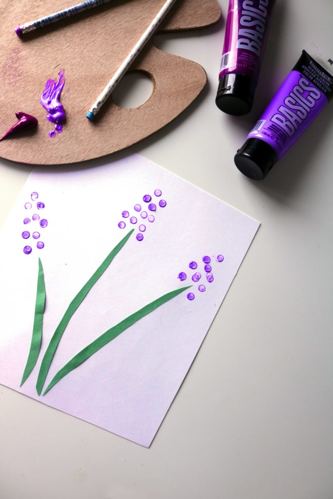 Lavender paper craft for witchy home schooling moms.