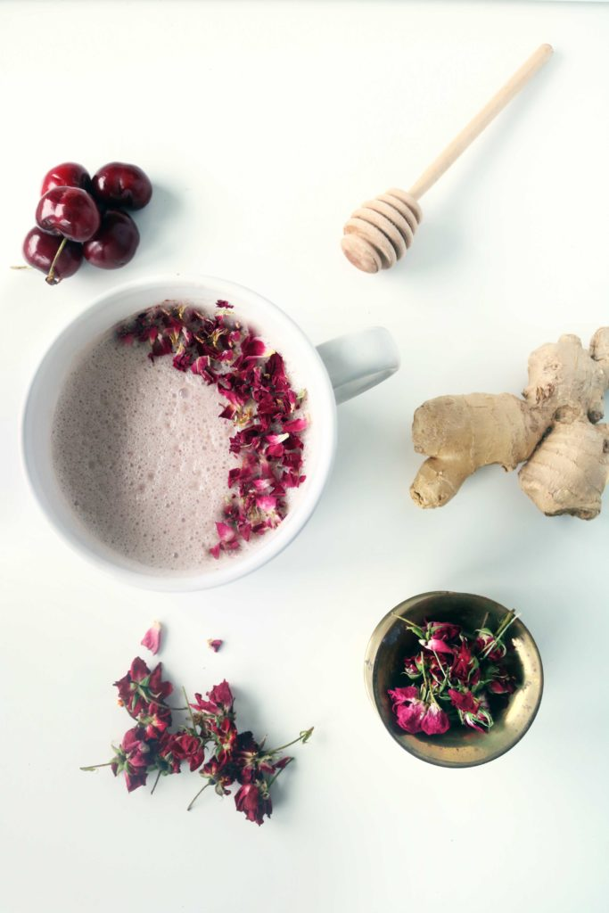 Fall asleep under the summer sky with this deliriously beautiful Rose Moon milk.