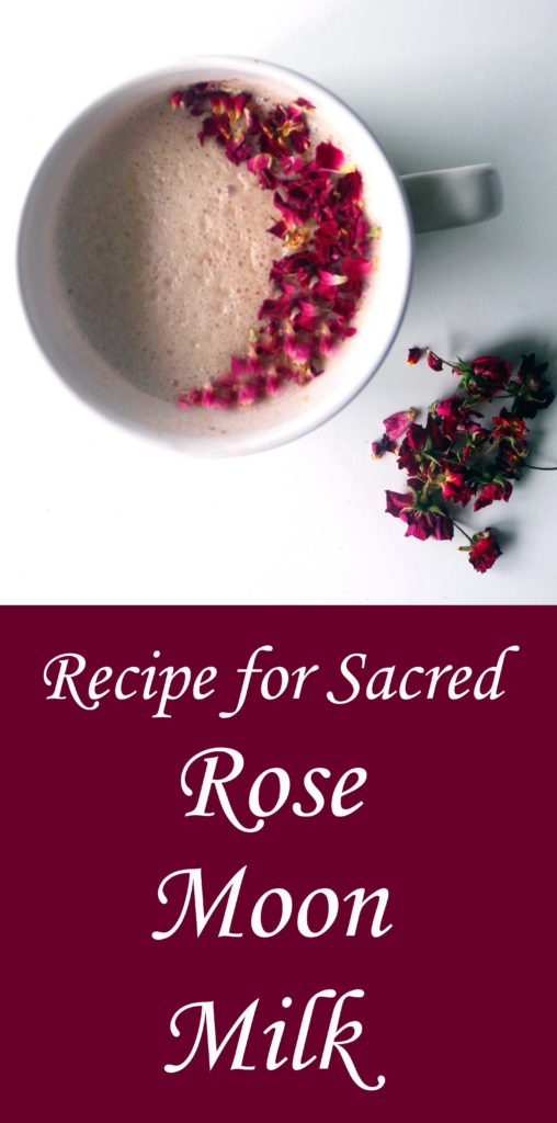 You only need 4 ingredients to make this gorgeous cup of Rose Moon milk.