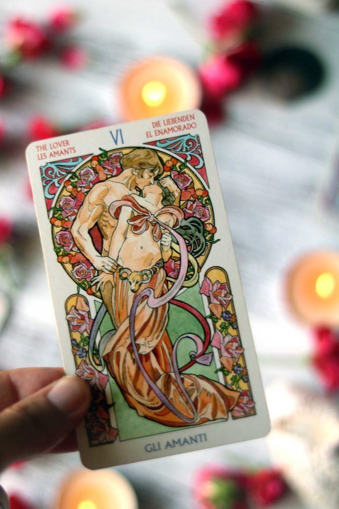 The lovers card is used in a love and attraction spell.