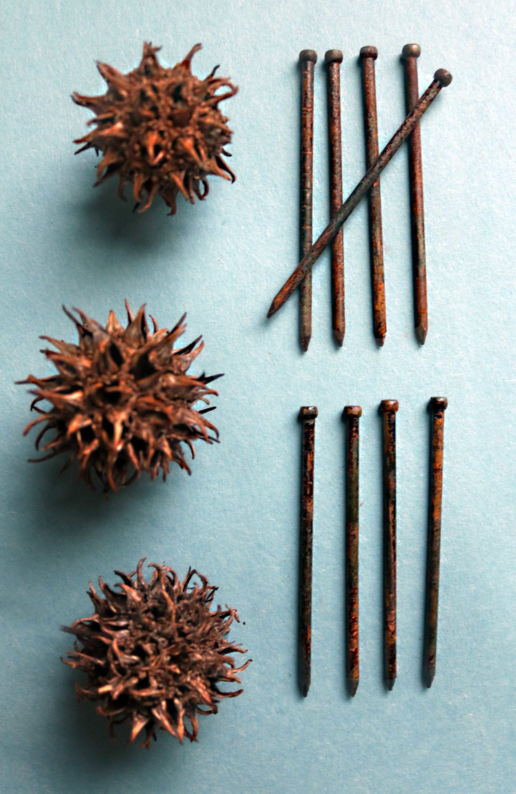 How to make and use rusty nails for witch bottles, spells, magic and protection.