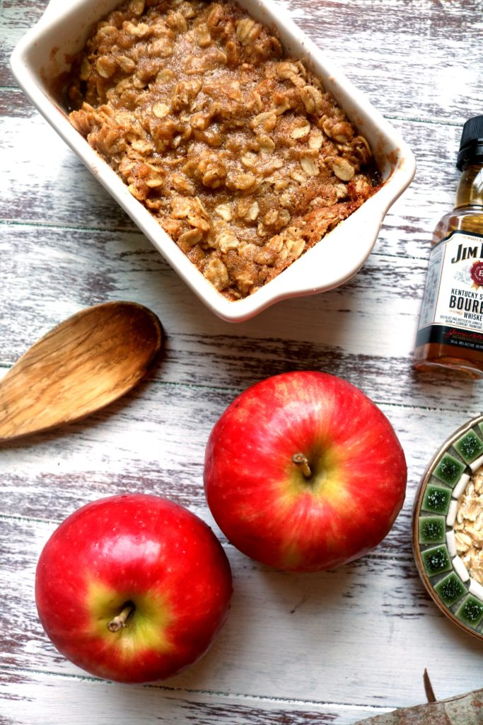 Make the most of your trip the apple orchard this fall with some bourbon apple crisp.