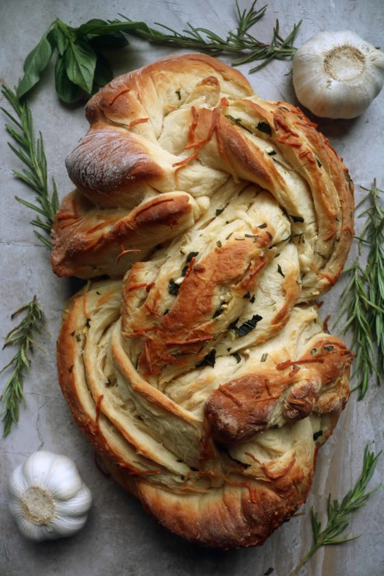 Delicious, warm, from-scratch pesto & herb swirl bread recipe for Lammas/Lughnasadh.