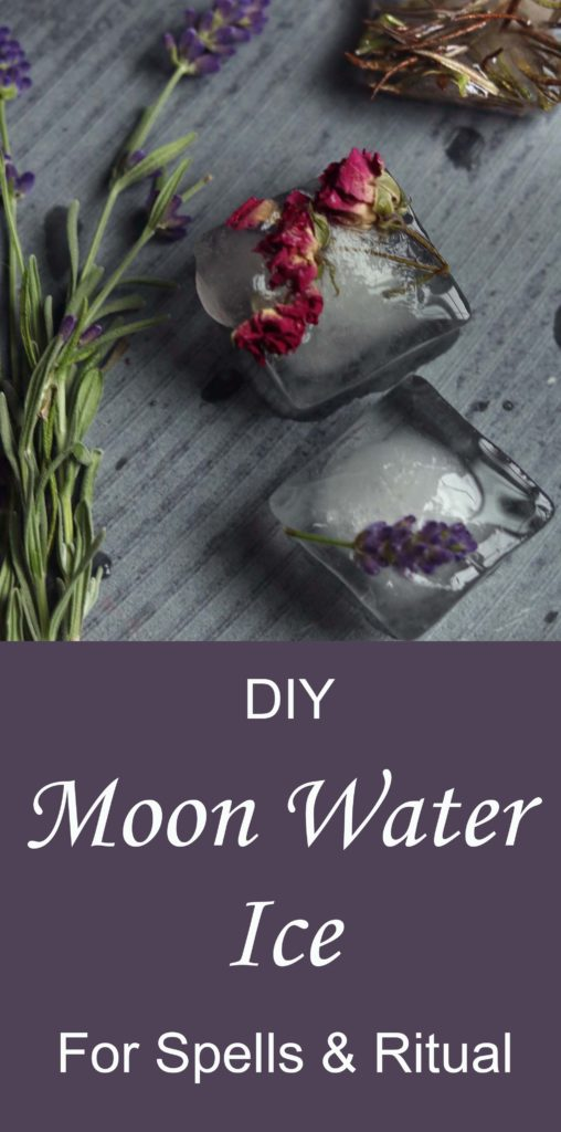 DIY Moon Water made into ice for easy use.