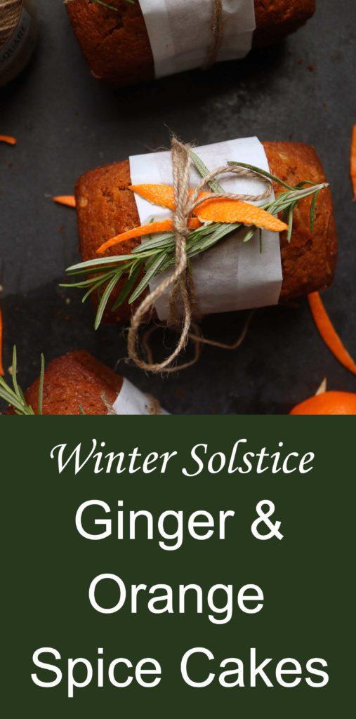 Yule Ginger and Orange Zest Vanilla Spice Cakes