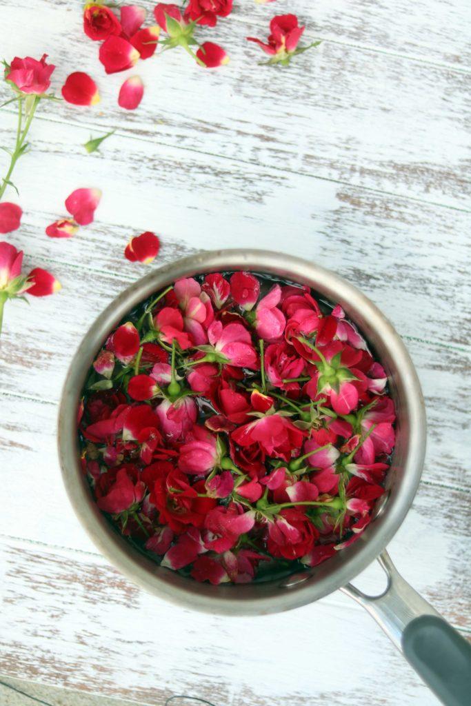 Making rosewater