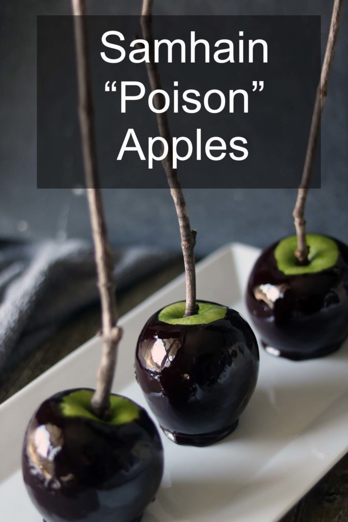 "A kitchen witch's recipe for ""black magic"" candied apples."