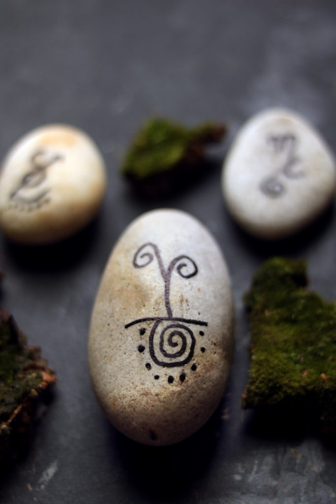 How to make and use sigil stones for magical intentions and spell craft.