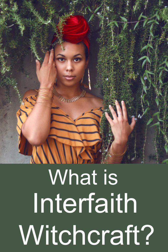 What is the practice of interfaith witchcraft?