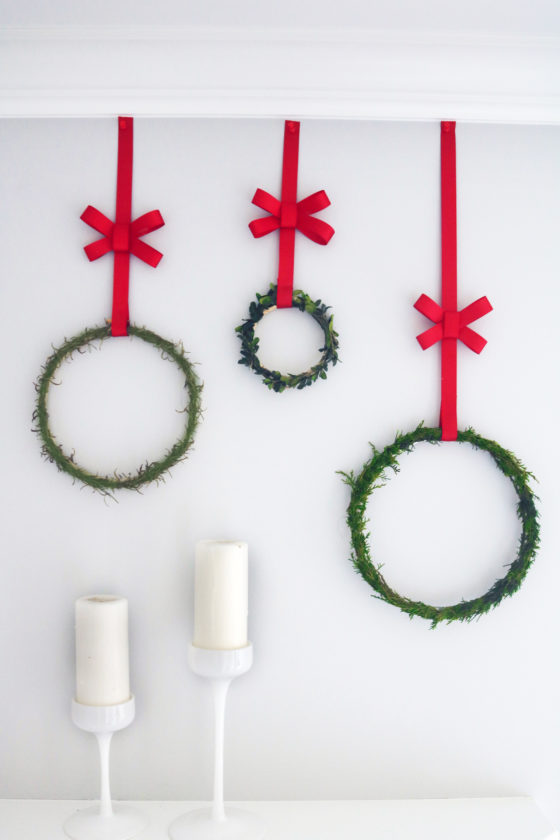 DIY Winter Solstice Herbal Evergreen Wreath Tutorial