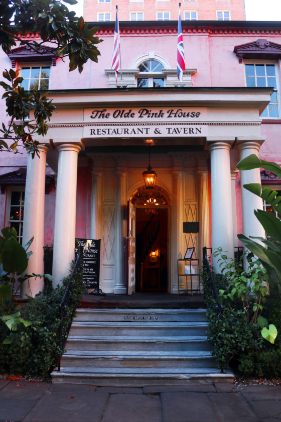 The Haunting of the Old Pink House in Savannah, Georgia.