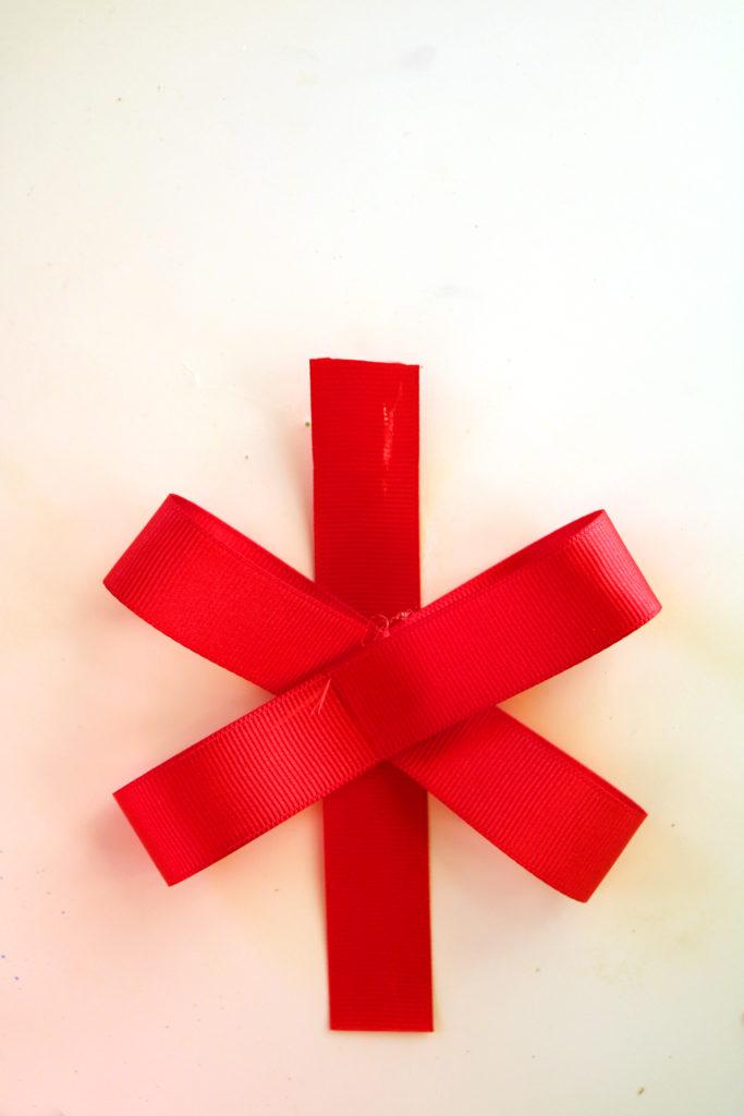 Wreath bow.