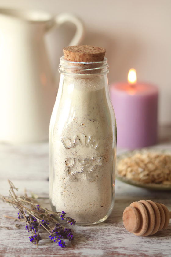 Imbolc DIY Oatmeal & Honey Milk Bath with Lavender