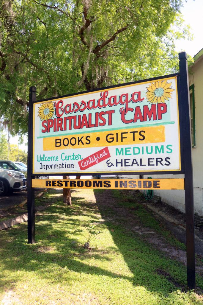 Cassadega, Florida Spiritualist Camp bookstore and information center.