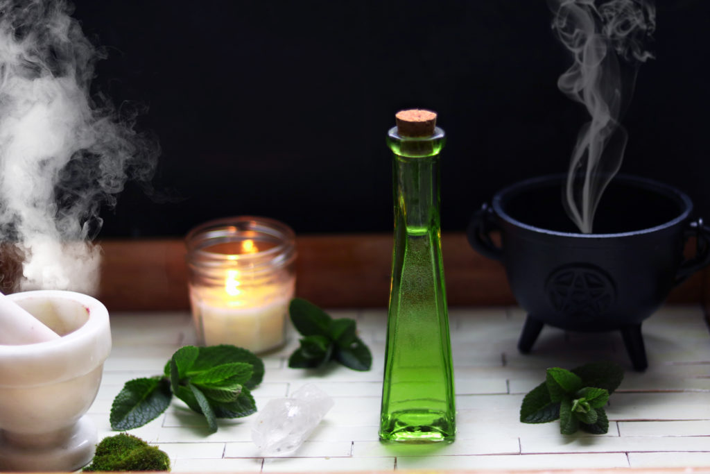 How to make potions for use magic, spells and witchcraft.