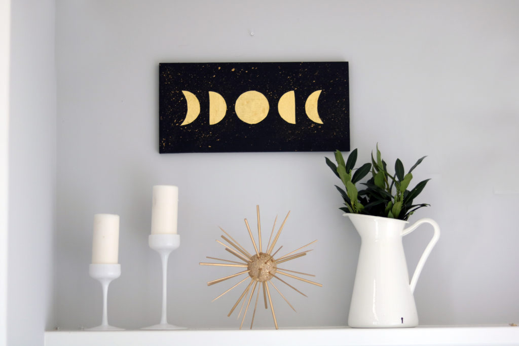 Witchy moon wall art craft.