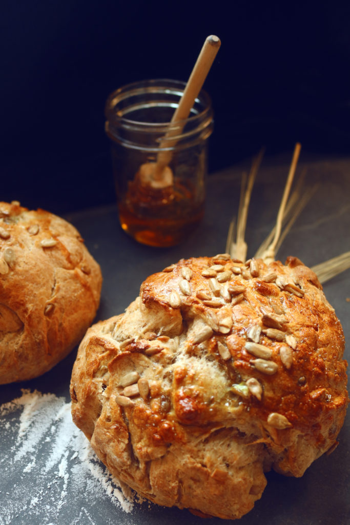 Get your Lammas on with this honey-drenched rustic bread recipe.