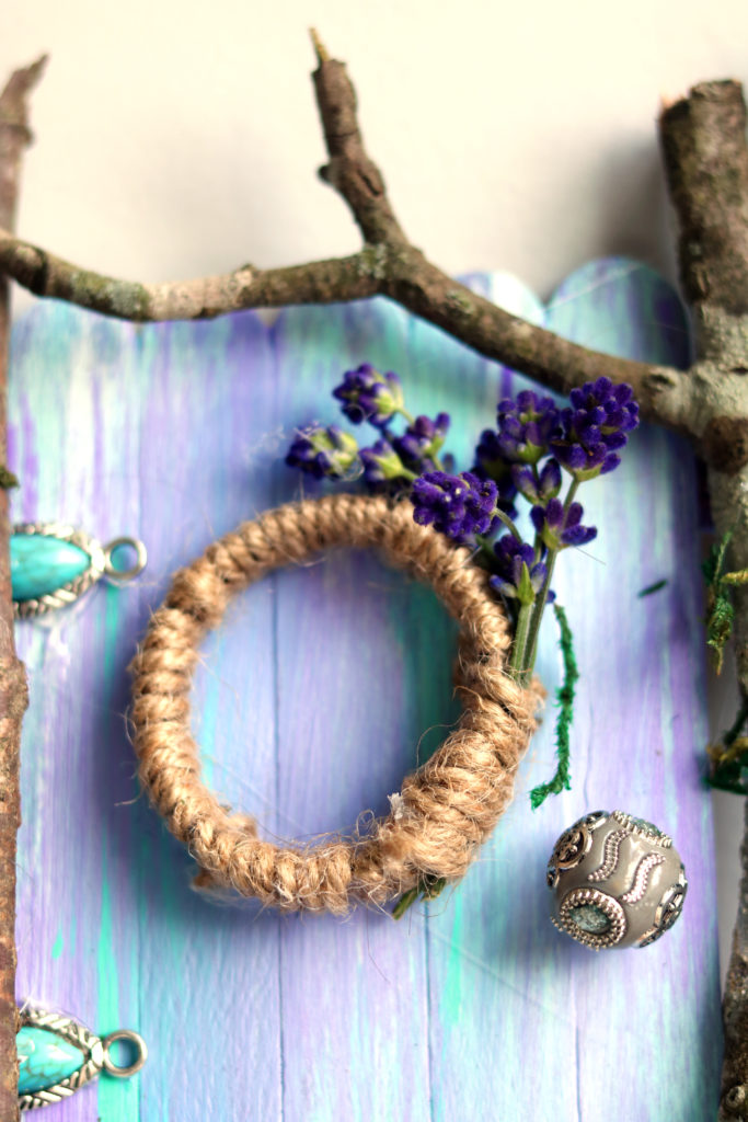 Gorgeous handmade fairy door is a magical craft project for a rainy day.