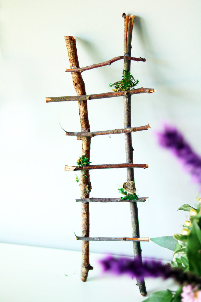 Fairy trellis ladder.