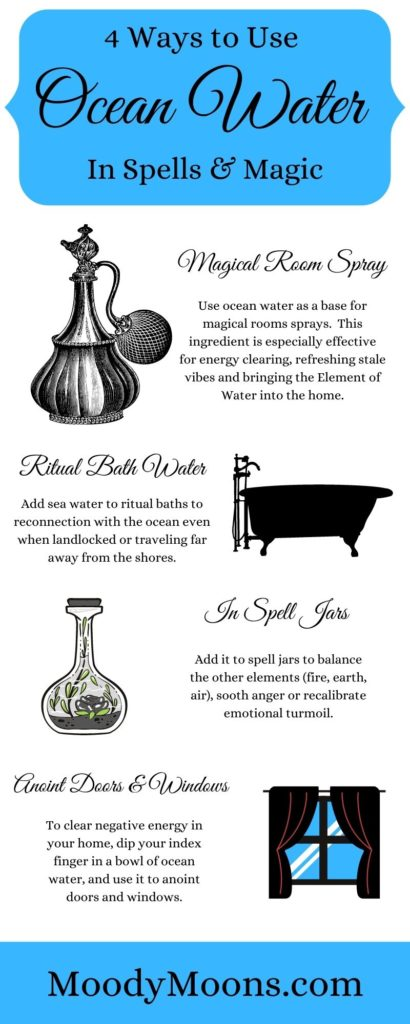 How to use ocean water for witchcraft, magic and spells.